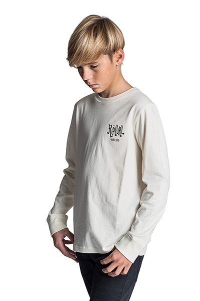Лонгслив детский Rip Curl Search Icon Ls Tee Off White